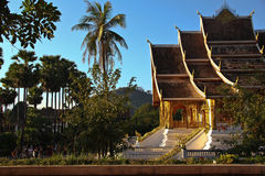 Laos Royal Palace. LangPrabang landmark Lao central city royalty free stock photography