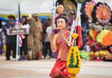 Laos Show Dance of Mask Stock Image
