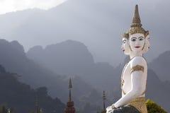 laos skulpturtempel Royaltyfri Foto