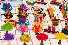 Laos Souvenirs In The Street Market, Luang Prabang, Laos. Close-up. Royalty Free Stock Photos