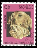Laos stamp. Laos - stamp printed in1971, Series Fauna, Animals, Dogs Royalty Free Stock Images
