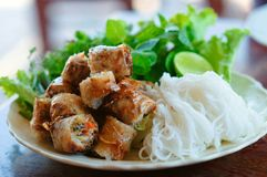 Laos stye spring roll Royalty Free Stock Photography