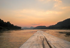 Laos Sunset on the Mekong River Stock Photography