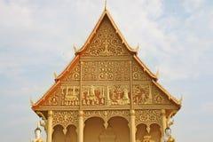 laos tempel Arkivbilder