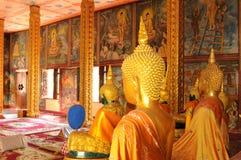 Laos: tempel bij de grootste boeddhistisch-Universiteit van Indochina stock afbeelding