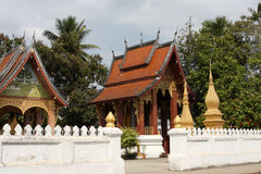Laos temple Stock Image