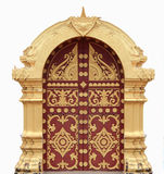 Laos temple arch. Royalty Free Stock Photography