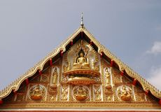 Laos temple facade Stock Image