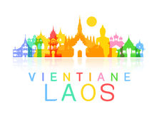 Laos Travel Landmarks. Stock Image