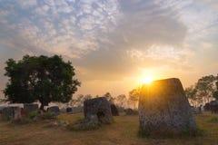 Laos, vale do jarro fotos de stock