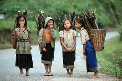 LAOS VANG VIENG LUANG PRABANG VAN AZIË ZUIDOOST-AZIË royalty-vrije stock afbeelding