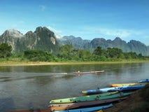 Laos vangvieng Arkivbilder