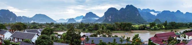laos vangvieng Fotografering för Bildbyråer