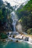 laos vattenfall Fotografering för Bildbyråer