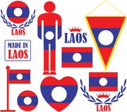 Laos. Vector illustration (EPS 10 Stock Images