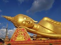 Laos Vientiane  buddha who rests. Buddha slip Vientienae Laos Buddha who rests and is at peace and quiet Stock Image