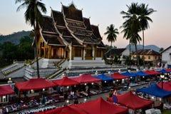 Laos Vientiane Luang Prabang Buddhism. Travel through historical places in Laos stock photo
