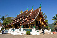 Laos Vientiane Luang Prabang buddism Arkivbilder