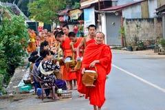 Laos Vientiane Luang Prabang buddism Royaltyfria Foton