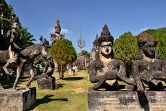 Laos Vientiane Luang Prabang buddism Arkivfoto