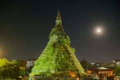 LAOS VIENTIANE NAM PHU stupa KTÓRY OGROBLA Zdjęcie Royalty Free