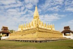 laos Vientiane Pha Który Luang, 'Wielka stupa' Zdjęcie Royalty Free