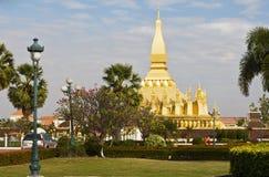 laos vientiane Pha som Luang, 'stora Stupa', Arkivfoto