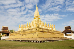 laos vientiane Pha som Luang, 'stora Stupa', Royaltyfri Foto