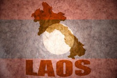 Laos vintage map Royalty Free Stock Images