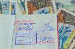 Laos-Visum lizenzfreie stockbilder