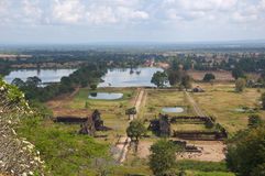 Laos - Wat Phu Champasak Tempel Stockbilder