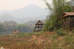 Laos wioska obraz royalty free