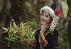 Laos woman. Woman at an indigenous tribe in Laos royalty free stock photo