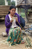 Laos Woman Working Stock Photography