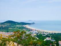 Laoshan-Bergblick in Qingdao lizenzfreies stockfoto