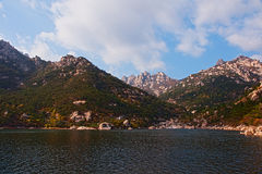 Laoshan mountains beautiful autumn scenery of China Stock Photos