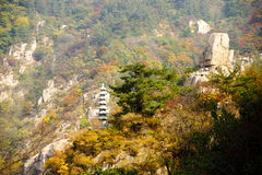 Laoshan mountains beautiful autumn scenery of China Royalty Free Stock Photography