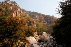 Laoshan mountain's beautiful autumn scenery of China. The beautiful autumn scenery, filming the Qingdao laoshan mountain scenic spot in China Stock Images