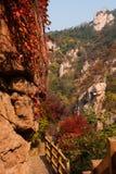 Laoshan mountains beautiful autumn scenery of China Stock Images