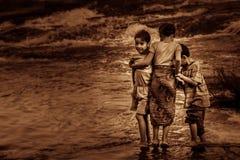 Laotan siblings Stock Photos