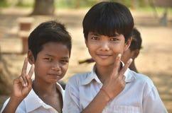 Laotiaanse hmongkinderen Stock Afbeelding