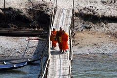 Laotian bridge Royalty Free Stock Photo