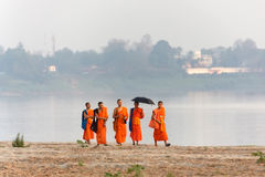 Laotian Buddhist monks Royalty Free Stock Photography