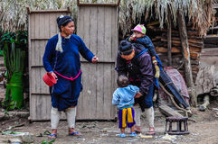Laotian family in Luang Nam Tha, Laos Royalty Free Stock Photography