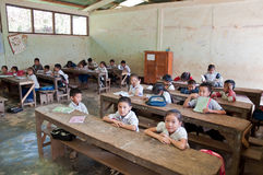 Laotian Schoolchildren Royalty Free Stock Photos