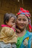 Hmong Woman and child in northern Laos stock image