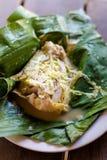Laotisk ångad fisk Mok Pa fotografering för bildbyråer
