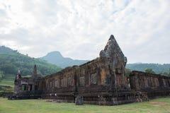 Laotisk Wat Phou Khmer tempel Fotografering för Bildbyråer