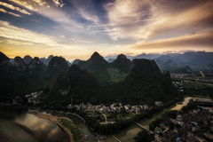 Laozhai mountain viewpoint Royalty Free Stock Photos