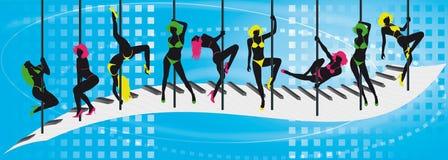 Lap dance. Girls who does a lap dance vector illustration